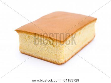 Side View Sponge Cake On White Background
