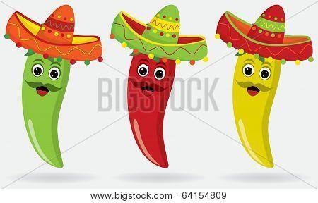 Mexican Jalapeños In Sombreros!