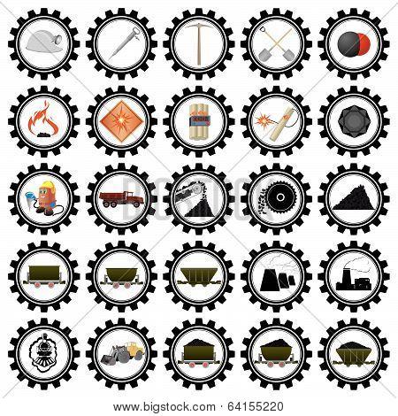 Badges coal industry