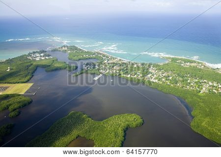 Aerial View Of Northern Puerto Rico
