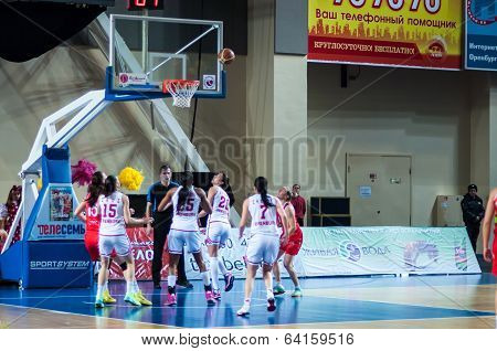 Basketball Game Russia Spain