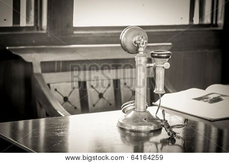 Old-fashioned Telephone Receiver
