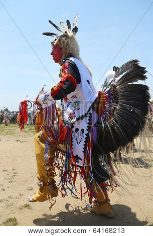 Unidentified Native American dancer at the NYC Pow Wow in Brooklyn