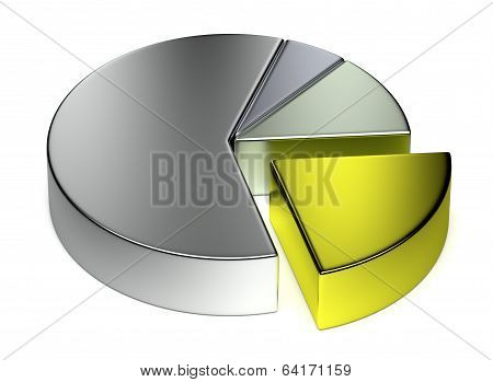 Abstract Creative Metal Pie Chart