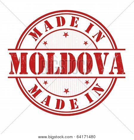 Made In Moldova Stamp