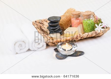 Spa Amenities In A Banana Leaf Basket