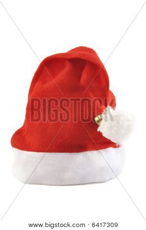 Santa Hat Isolated Over White.