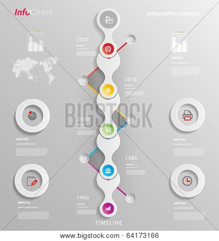 Stylized Infographics Presentation,option Template