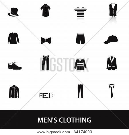 mens black clothing eps10
