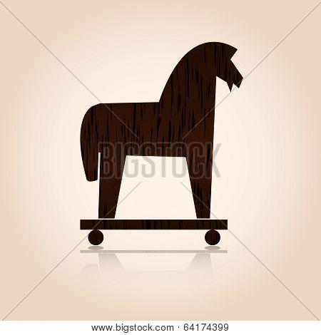 wood trojan horse eps10