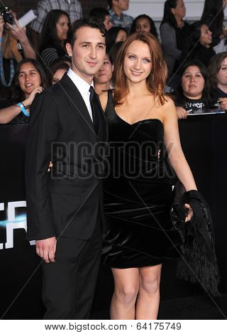 LOS ANGELES - MAR 18:  Ben Lloyd-Hughes & Emily Berrington arrives to the 'Divergent' Los Angeles Premiere  on March 18, 2014 in Westwood, CA
