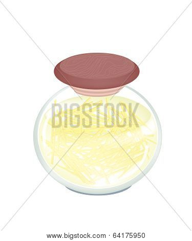 1Pickled Gingers In A Jar On White Background