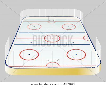 Ice hockey field realistic.