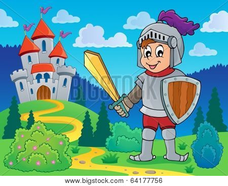 Knight theme image 1 - eps10 vector illustration.