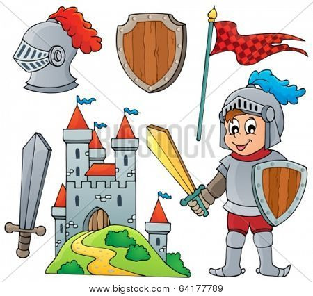 Knight theme collection 1 - eps10 vector illustration.