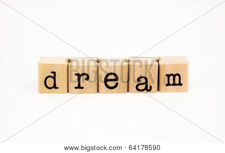 Dream Wording Isolate On White Background
