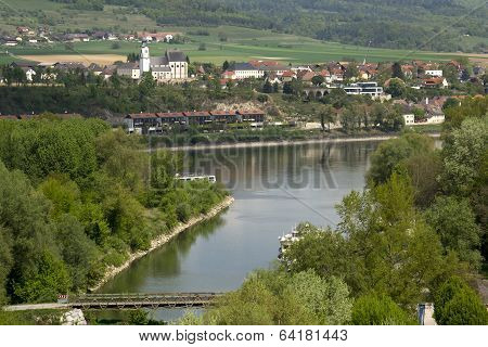 blue Danube near the town of Melk