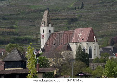 the old Church in the valley of the Wachau