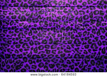 Leopard Print Wood Texture Background