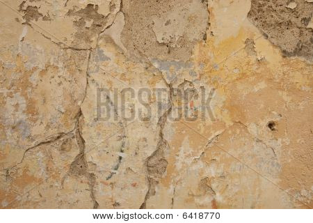 Old Paint Pelling Off Concrete Wall
