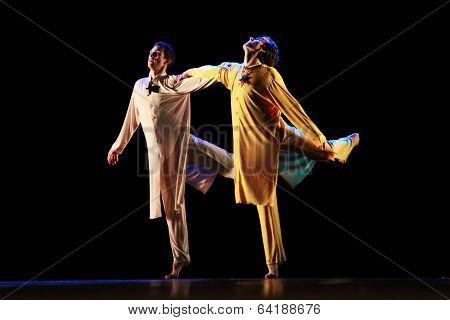 Members of the Yevgeny Panfilov Ballet Studio from Perm perform