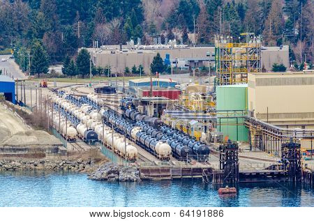 Power plants and oil terminal