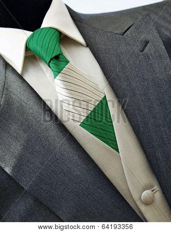 Wedding Dress With Flag Nigeria On Tie