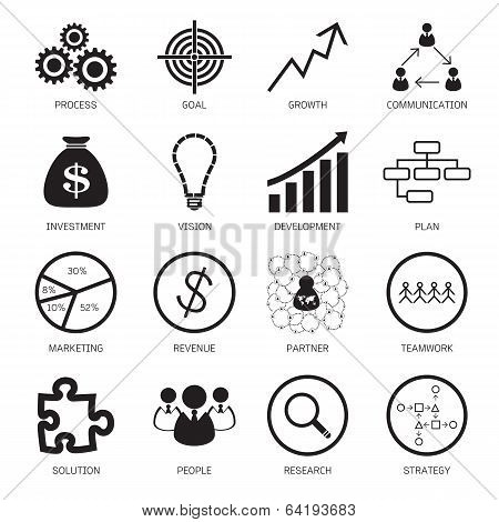 Strategy Concept Icons