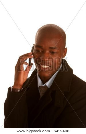 African Businessman With Cell Phone