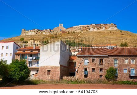 Cedrillas village Teruel skyline famous for the cattle fair in October at Spain