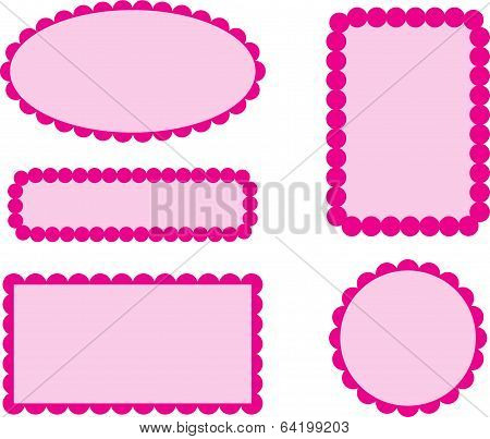 Pink Scalloped Frames