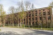 stock photo of ww2  - Old German WW2 V2 rocket-factory in Peenemunde ** Note: Shallow depth of field - JPG