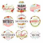 stock photo of i love you mom  - Vintage Happy Mothers