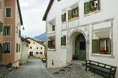 stock photo of engadine  - Guarda typical village in Engadine  - JPG