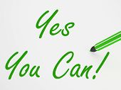 image of encouraging  - Yes You Can - JPG