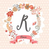 picture of monogram  - Personalized monogram in vintage colors - JPG