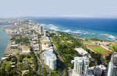 picture of greater antilles  - Aerial view of the Northern side of Puerto Rico - JPG