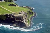 stock photo of greater antilles  - Aerial view of El Morro in Old San Juan Puerto Rico - JPG
