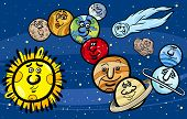 foto of uranus  - Cartoon Illustration of Funny Planets of Solar System Space Mascot Characters Group - JPG
