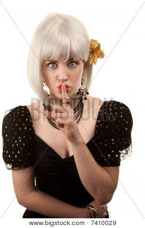 Retro Woman With White Hair