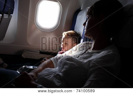 Family On Board The Aircraft