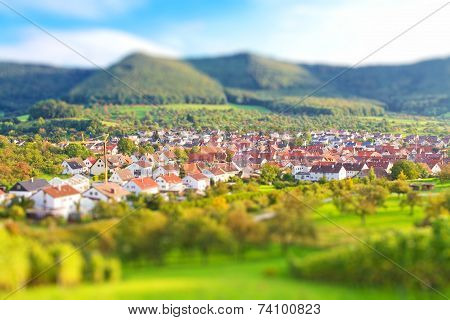 Beuren, Germany - tilt shift effect