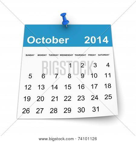 Calendar 2014 - October