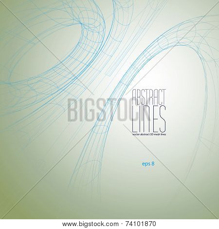 Abstract lines vector illustration, communication and digital technology abstract background, clear