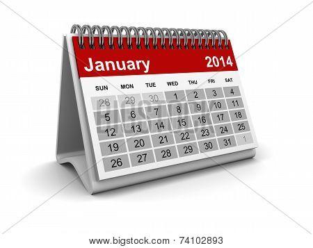 Calendar 2014 - January