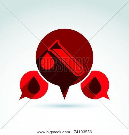 Donor blood and Circulatory system icon, conceptual stylish symbol for your design.