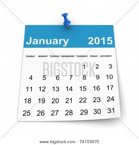 Calendar 2015 - January