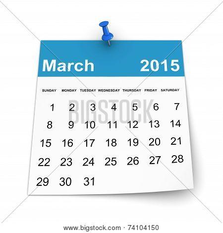 Calendar 2015 - March