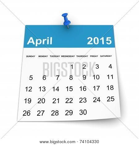 Calendar 2015 - April