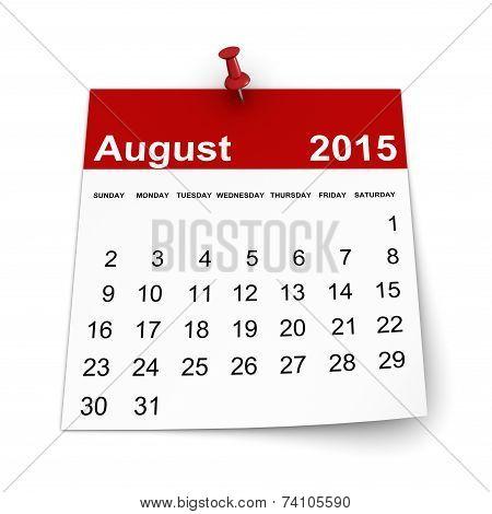 Calendar 2015 - August